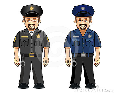 A cop in 2 uniforms