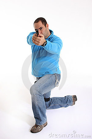 Cop with Pistol