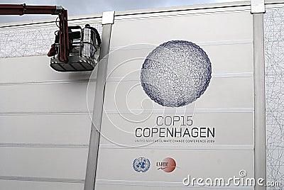 COP15 COPENHAGEN UN CMILMATE CHANGE Editorial Photography