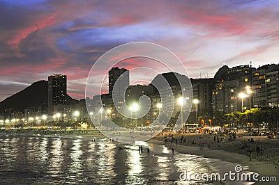 Copacabana Beach Crepuscule