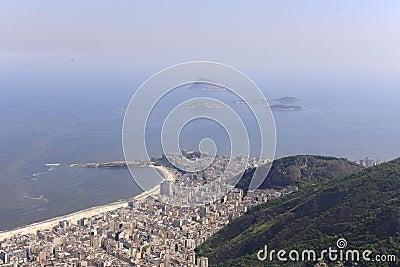 Copacabana, Rio de Janeiro, aerial view