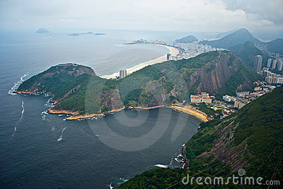 Copacabana from Sugarloaf mountain.