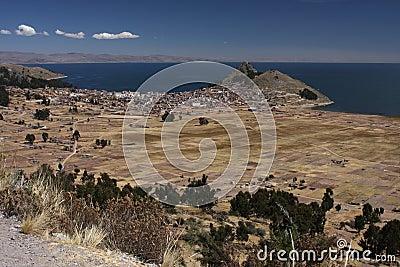Copacabana on Titicaca lake shore