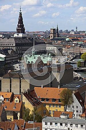 Copenhagen from above. Denmark