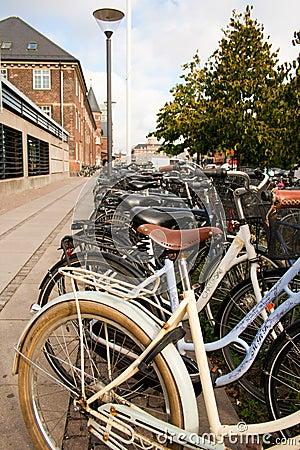 Copenhagen Bike Rack II Editorial Stock Image