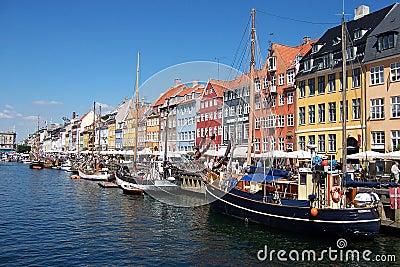Copenhagen canal, boats.