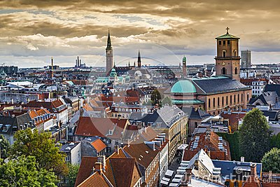 Copenhagen, Denmark Skyline