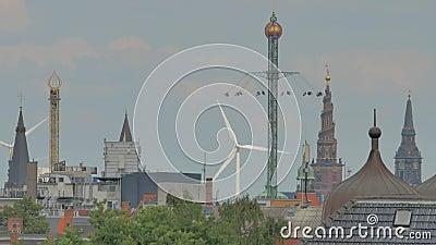 copenhagen domu przyglądający nowy opery linia horyzontu widok zdjęcie wideo