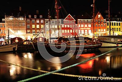 Copenhagen by night Editorial Stock Photo
