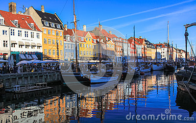 Copenhagen Nyhavn - New Harbour Bank Editorial Stock Image