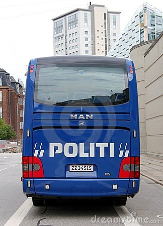 Copenhagen Police Coach Editorial Photo