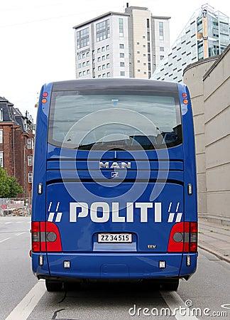 Copenhagen Police Coach Editorial Photo