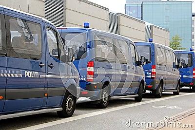 Copenhagen Police Vans Editorial Image