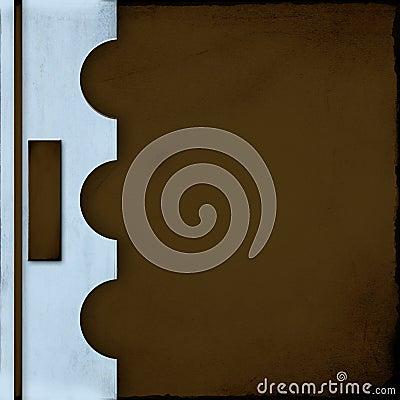 Coperchio blu e marrone del taccuino con la modifica