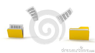 Copie arquivos ilustração stock