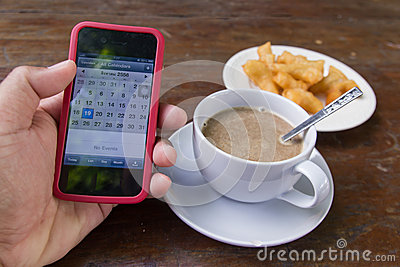 Copo de café na manhã