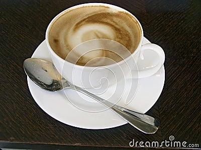 Copo do cappuccino