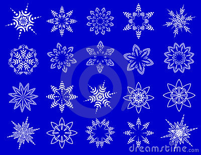 Copos de nieve simbólicos.
