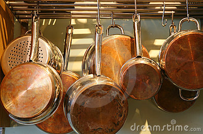Copper Bottomed Pots and Pans