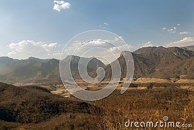 Copper canyon mountains in Mexico