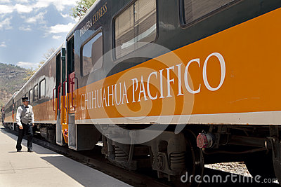Copper canyon train, in Mexico Editorial Stock Photo