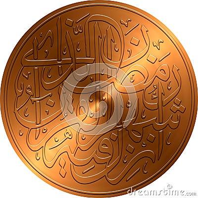 Copper Embossed Islamic Calligraphy