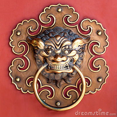Copper Lion Head