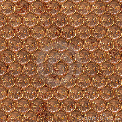 Copper metal surface