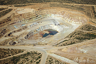 Copper mining excavation