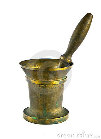 Free Copper Mortar On White Background Royalty Free Stock Images - 15252719