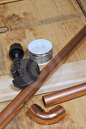 Copper pipe and plumbing supplies