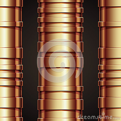 Copper pipeline seamless pattern.