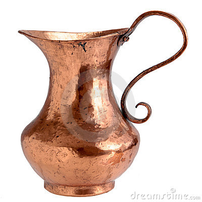 Free Copper Pitcher Royalty Free Stock Photo - 9076295