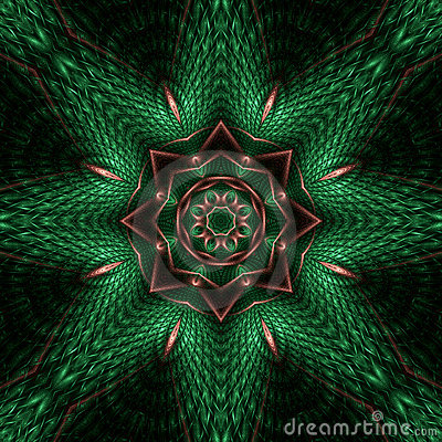 Copper relief star mandala