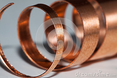 Copper shavings