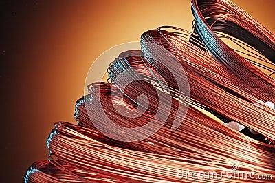 Copper skeins
