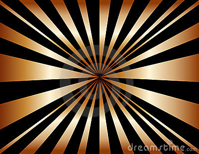 Copper Sunburst Background