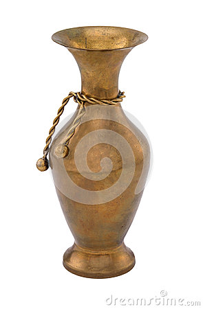 Free Copper Vase With Decoration Stock Photography - 54389372