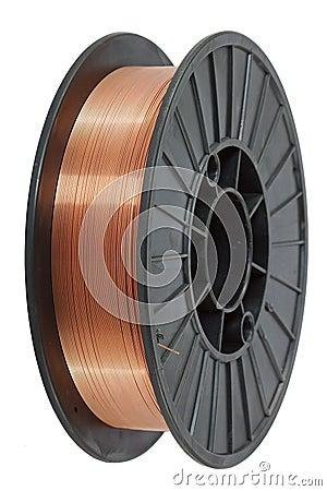 Copper wire on spool