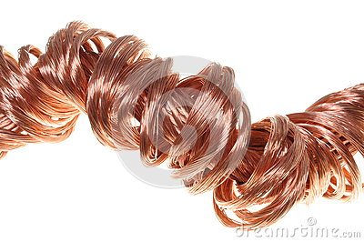Copper wires concept of energy power industry