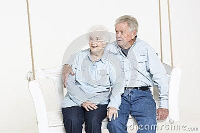 Coppie senior affettuose