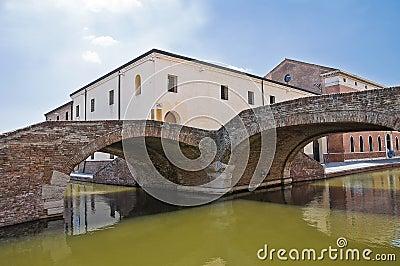 Cops bridge. Comacchio. Emilia-Romagna. Italy.