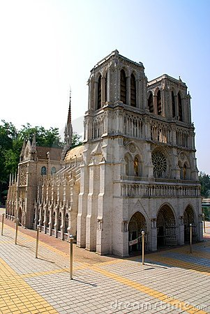 Copy of the Cathedrale Notre-Dame d Amiens.