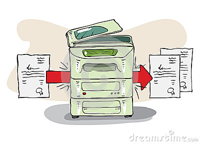 Copy Machine copies some documents