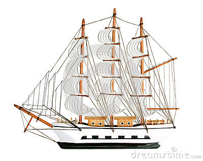 Copy of an old sailing ship