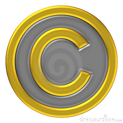 Copy right mark icon