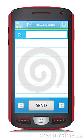 Copy Space for SMS text on touch screen phone