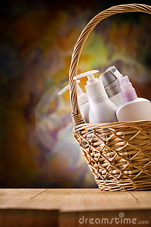 Free Copy Space View On The Skincare Items Royalty Free Stock Images - 20733959