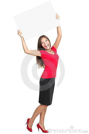 Free Copy Space Woman Happy Stock Image - 17351121