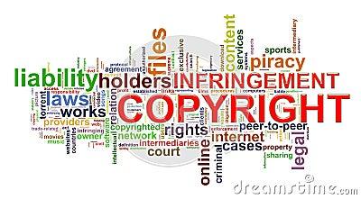Copyright infringement wordcloud